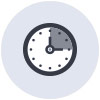 icona gestione orario lavoro